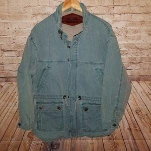 Vintage WOOLRICH Blue Denim Jacket Medium